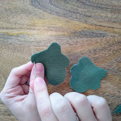 Thread the Needle - Felt Leaf Tutorial