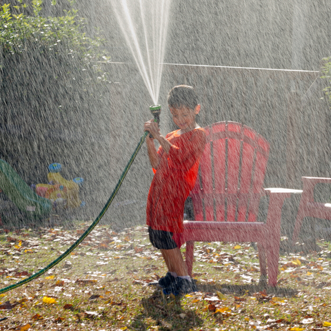 Run Through a Garden Hose - July Calendar
