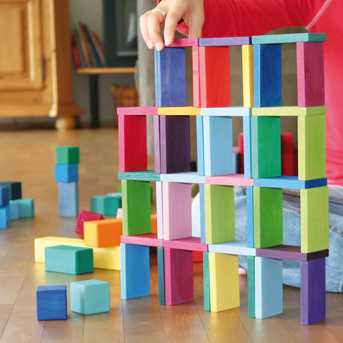 Grimm's Color Chart Rally Building Blocks Set