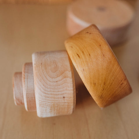 Caring for wooden toys with Bee Luna Natural Beeswax Polish before and after