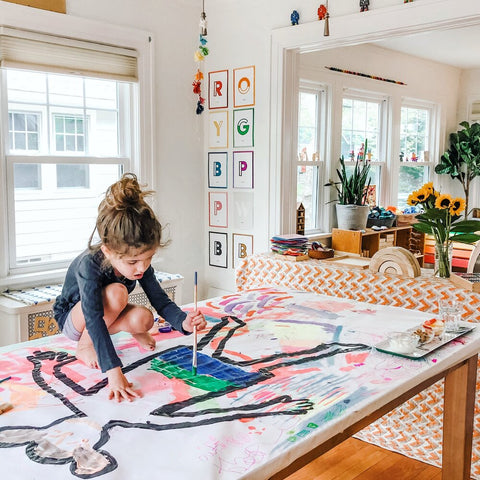 Body tracing activity by The Workspace for Children