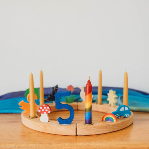 Grimm's Wooden Toys wooden birthday ring Waldorf birthday traditions