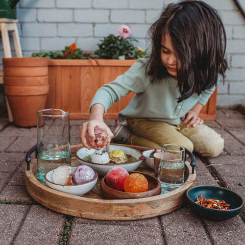 Nature potion with ice summer activity for kids