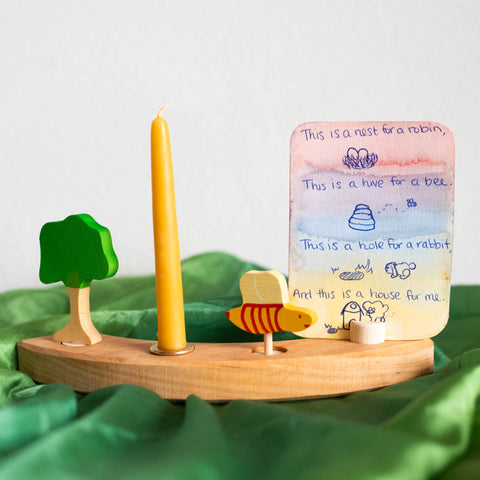 Waldorf Spring Verses for Nature Table birthday ring