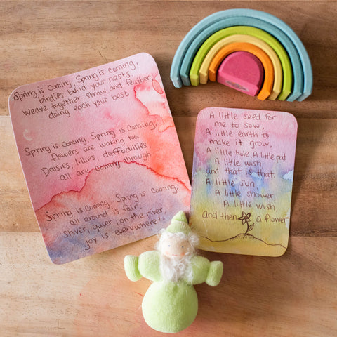 Waldorf Spring Verses for circle time and nature table