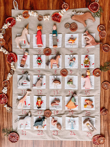 Ostheimer Wooden Toys in an advent calendar by Wildflower.Dwelling