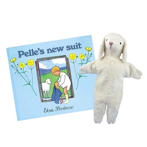 Pelle's New Suit by Elsa Beskow paired with Senger Lamb Hand Puppet
