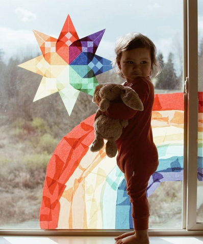 Decorate a Window with Rainbows - Bella Luna Toys