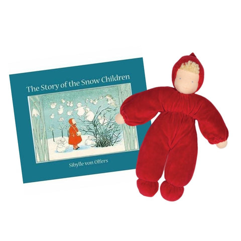 The Story of the Snow Children Red Waldorf Baby Doll from Bella Luna Toys