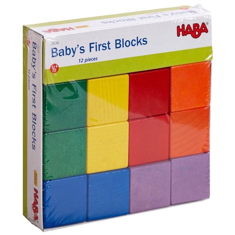 Haba Baby's First Blocks set building blocks for 1 year olds