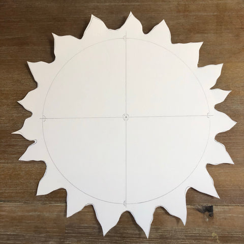 Outline for Waldorf moving picture sun craft for summer solstice