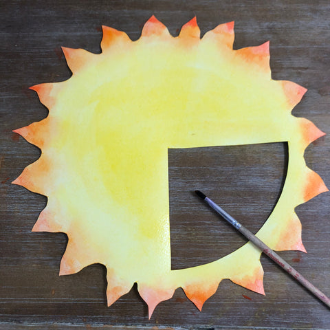 Use watercolors to decorate your moving pictures solstice craft