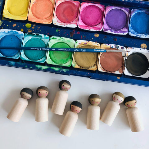 Painting peg doll fairies for international fairy month