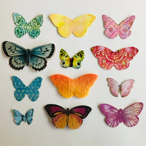 Butterfly wing cut outs for fairy peg dolls