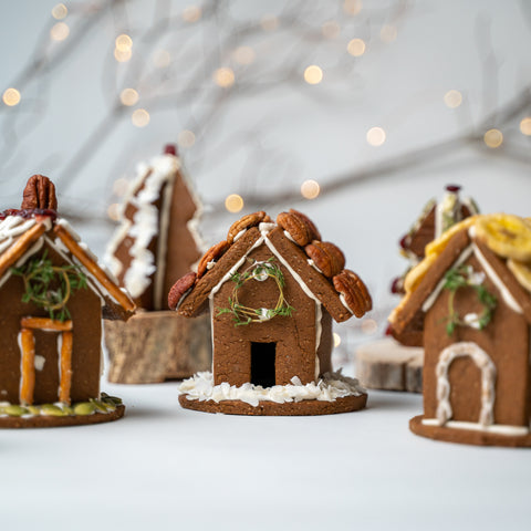 Candy Free Gingerbread Houses by Lacey Arrowsmith