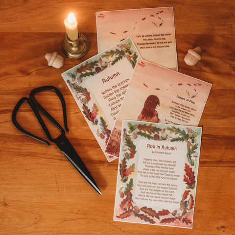 Autumn Verse cards by Steph Green Waldorf Family