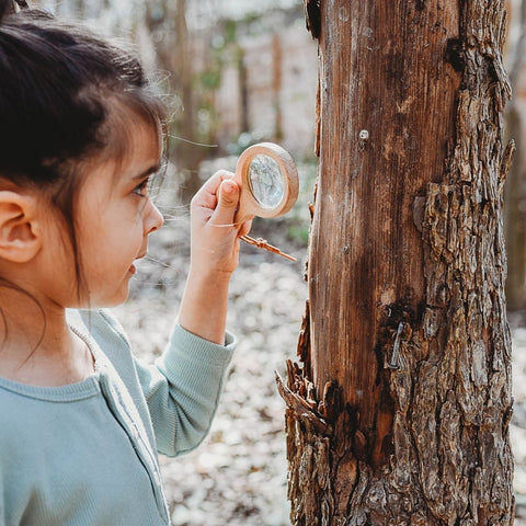 wooden magnifying glass for kids from Bella Luna Toys