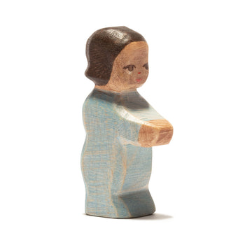 Ostheimer Toddler II Wooden Figure - Dark Skin | Bella Luna Toys