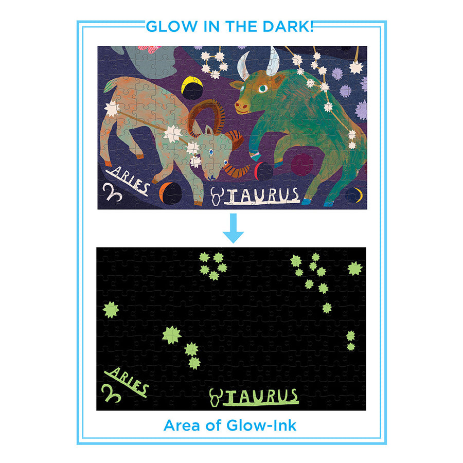 Glow-in-the-Dark Jigsaw Puzzle - Zodiac - eeBoo