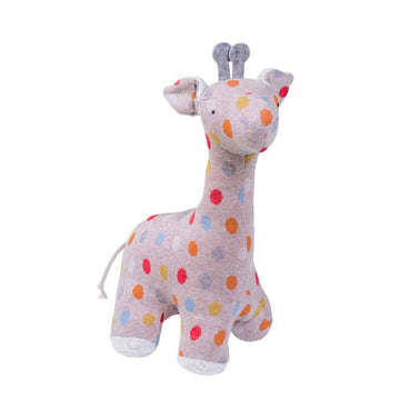 Efie Stuffed Polka Dot Organic Plush Giraffe - Stuffed Animals - Bella Luna Toys