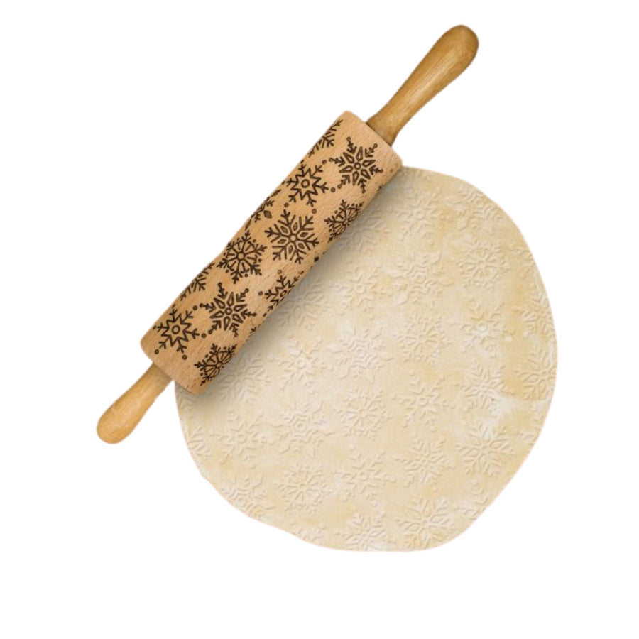Mrs. Anderson's Baking Snowflake Design Rolling Pin - Bella Luna Toys