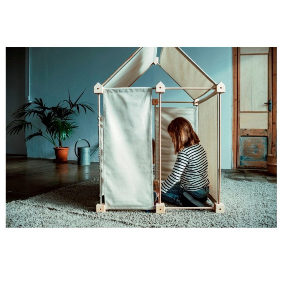 Trigonos Organic Fort Building Kit Kids | Bella Luna Toys