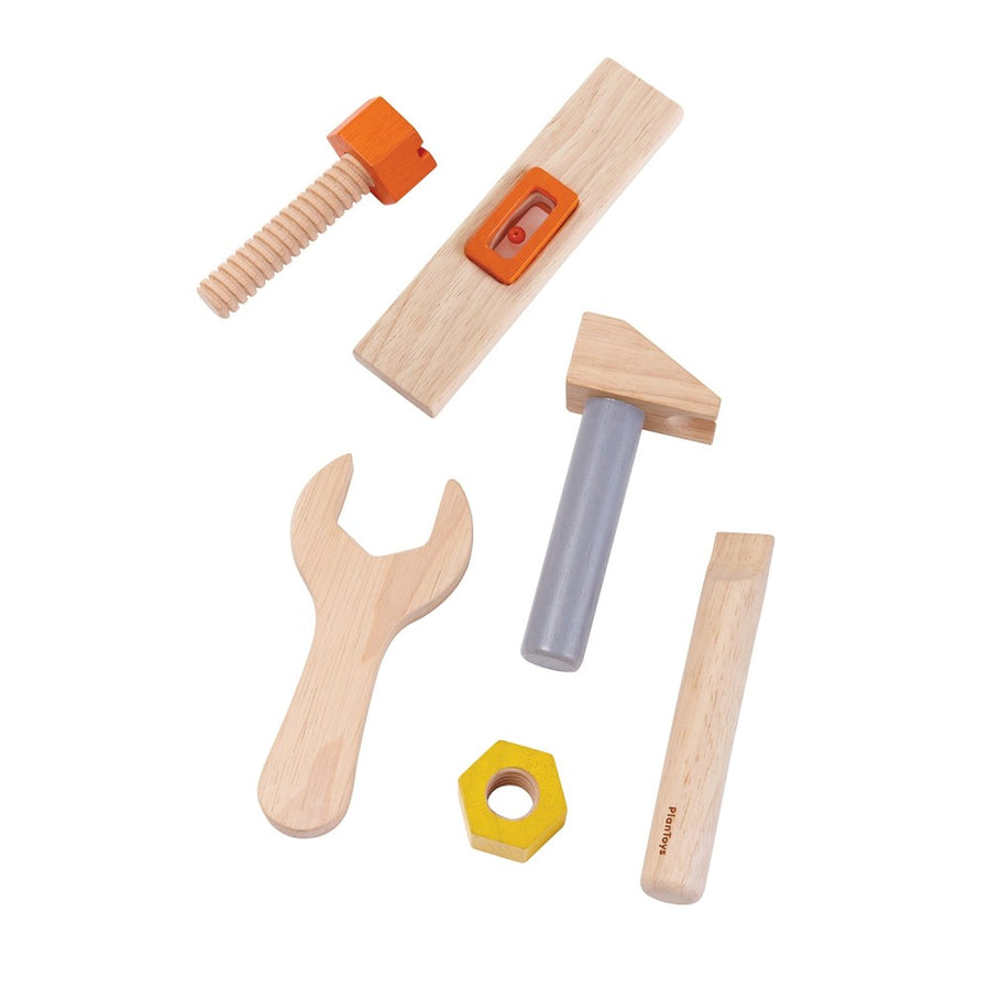 Plan Toys - Wooden Tool Set and Belt - Tools - Bella Luna Toys