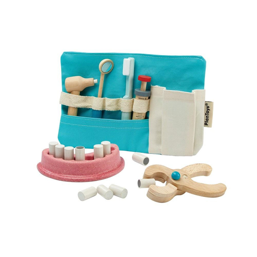 PlanToys Pretend Wooden Toy Dentist Set - Bella Luna Toys