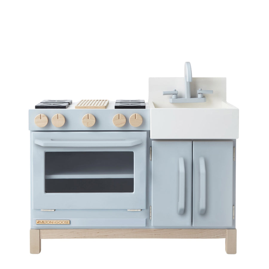 Milton and Goose Essential Wooden Play Kitchen - Gray - Bella Luna Toys