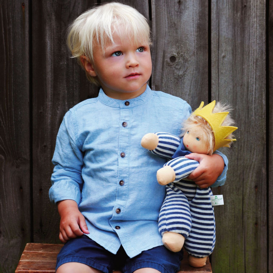 Nanchen Natur - King Oskar Waldorf Baby Doll and Boy - Bella Luna Toys
