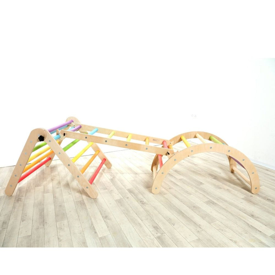 Folding Hump Arch with Slide and Triangle - Sawdust and Rainbows