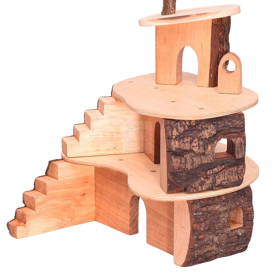 Small Tree House - Wooden Fairy House - Bella Luna Toys