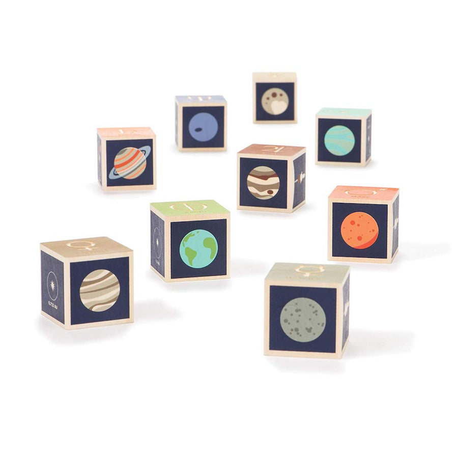Uncle Goose Planet Blocks - Scattered - Bella Luna Toys
