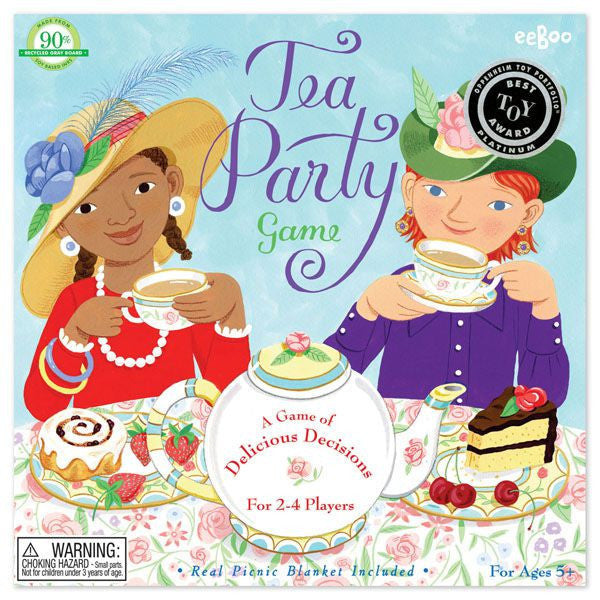 eeBoo Tea Party Spinner Game
