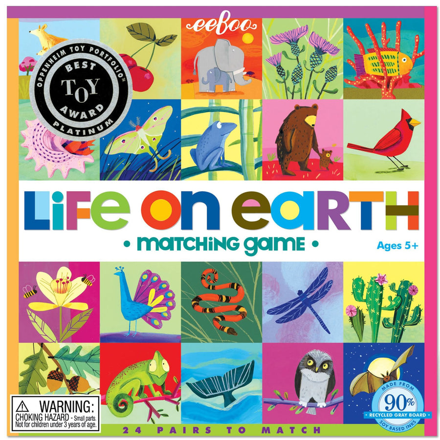 eeBoo Life on Earth Matching Game - Bella Luna Toys
