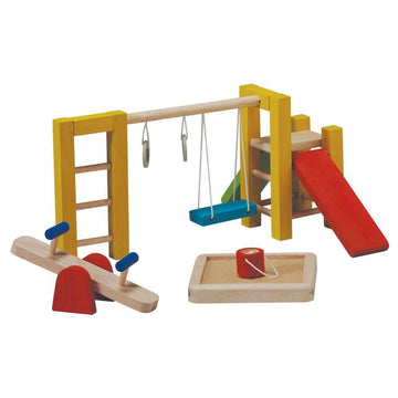 Plan Toys Wooden Dollhouse Playground - Bella Luna Toys