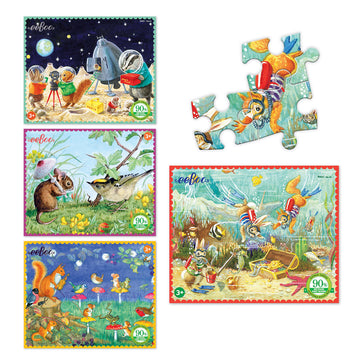 eeBoo Set of 4 Mini Puzzles - Bella Luna Toys