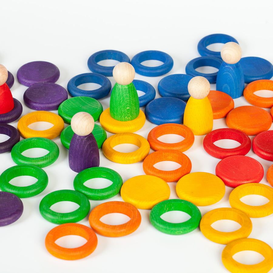 Grapat Nins Rings and Coins - Rainbow - Bella Luna Toys