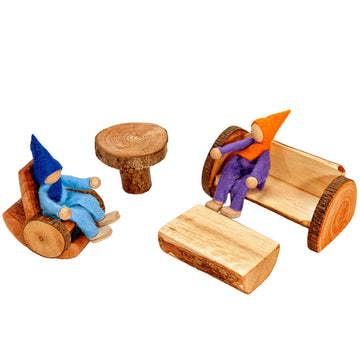 Magic Wooden Branch Fairy Dollhouse Furniture - Living Room - Bella Luna Toys
