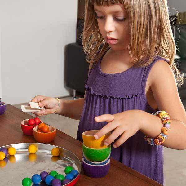 Grapat Bowls and Marbles Sorting Game - Girl Sorting - Bella Luna Toys