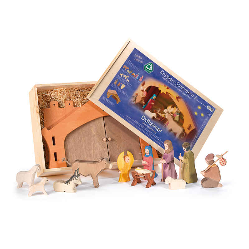 Ostheimer Nativity II - Wooden Figures Boxed Set - Bella Luna Toys
