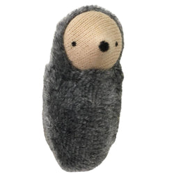 Small Gray Mole Baby Pocket Pal Handmade Toy - Bella Luna Toys