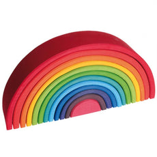 Wooden Rainbow Nesting Tunnel, Grimms, Large, 12 Pieces