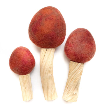 Autumn Felted Trees - Set of 3 - Bella Luna Toys