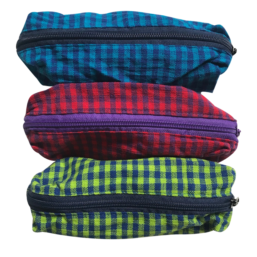 Pencil Case - Gingham Pattern - Three Colors - Bella Luna Toys