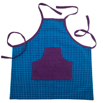 Kids Apron, Cotton, Blue Purple | Bella Luna Toys