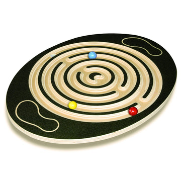 Labyrinth Wooden Balance Board - Challenge & Fun - Bella Luna Toys