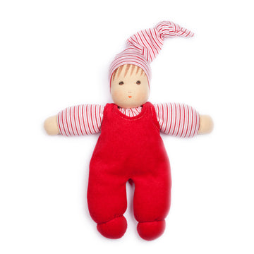 Nanchen Harper Organic Cuddle Baby Doll - Red | Bella Luna Toys