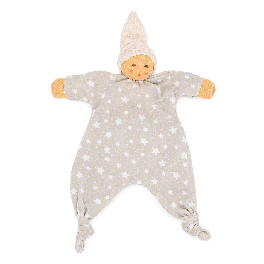 Nanchen Star Baby Towel Doll - Gray Front | Bella Luna Toys