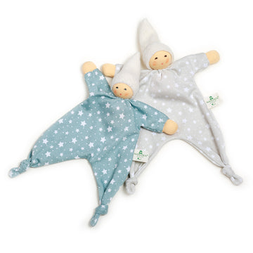 Nanchen Star Baby Blanket Dolls - Blue & Grey | Bella Luna Toys